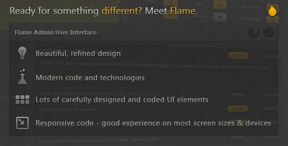 Flame Admin User Interface - Admin Templates Site Templates