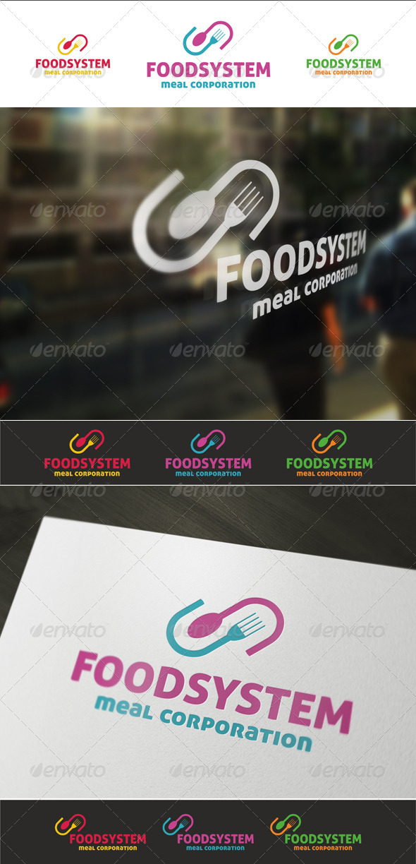 Food System - Food Logo Templates