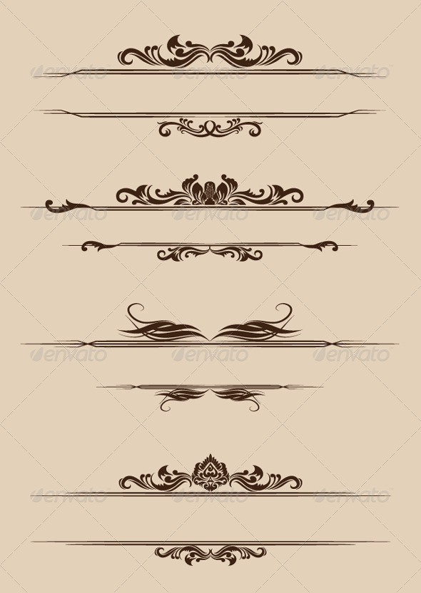 GraphicRiver Ornament Border Set 4355103