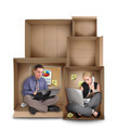 Small Entrepreneur People Working in Box - PhotoDune Item for Sale