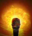 Hot Music Microphone Burning - PhotoDune Item for Sale