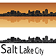 Salt Lake City Skyline in Orange Background - GraphicRiver Item for Sale