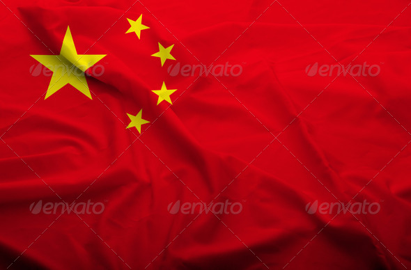 China flag - Stock Photo - Images