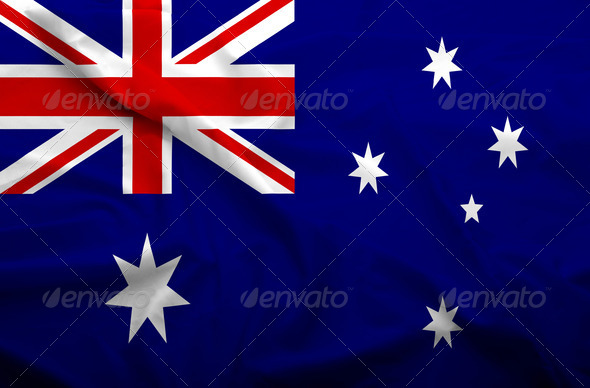 Australia flag - Stock Photo - Images