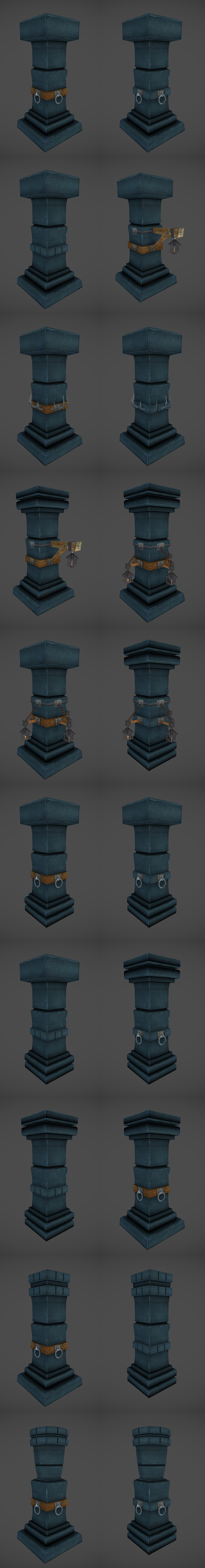 3DOcean Low Poly Dungeon Pillars 4356595