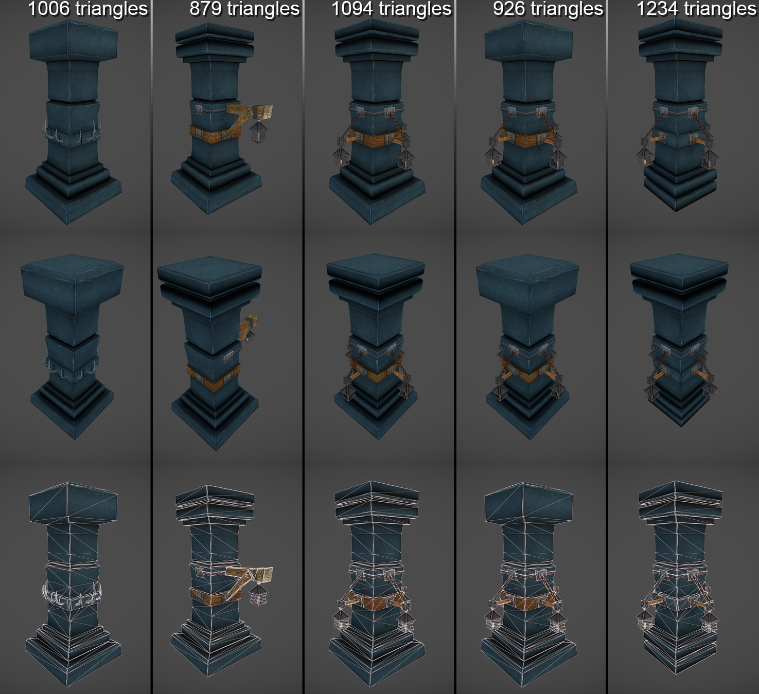 Low Poly Dungeon Pillars