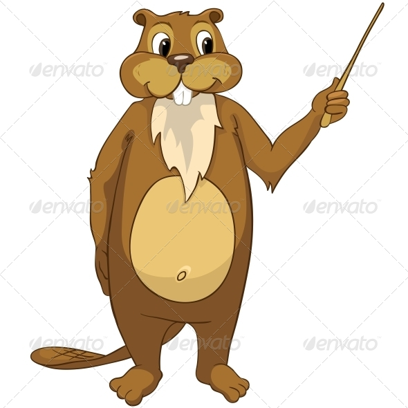 GraphicRiver Cartoon Character Beaver 4356823