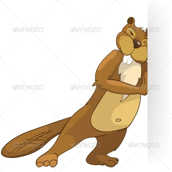 GraphicRiver Cartoon Character Beaver 4356829