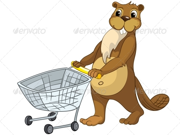 GraphicRiver Cartoon Character Beaver 4356840
