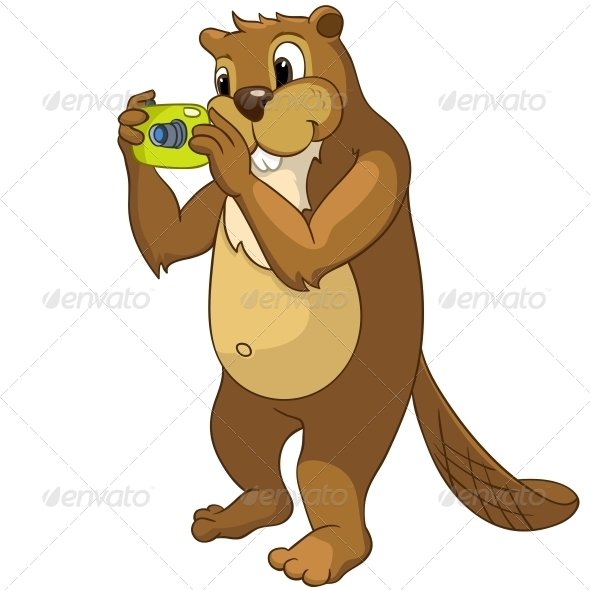 GraphicRiver Cartoon Character Beaver 4356864