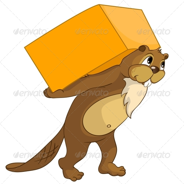 GraphicRiver Cartoon Character Beaver 4356869
