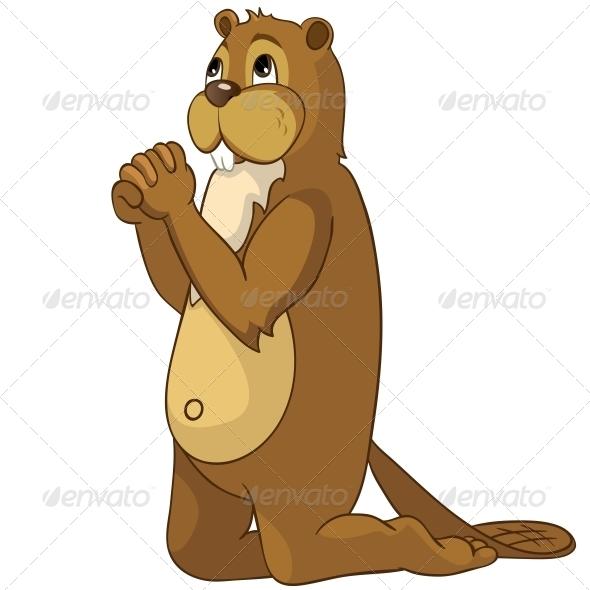 GraphicRiver Cartoon Character Beaver 4356870