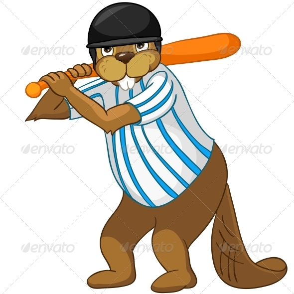 GraphicRiver Cartoon Character Beaver 4356874