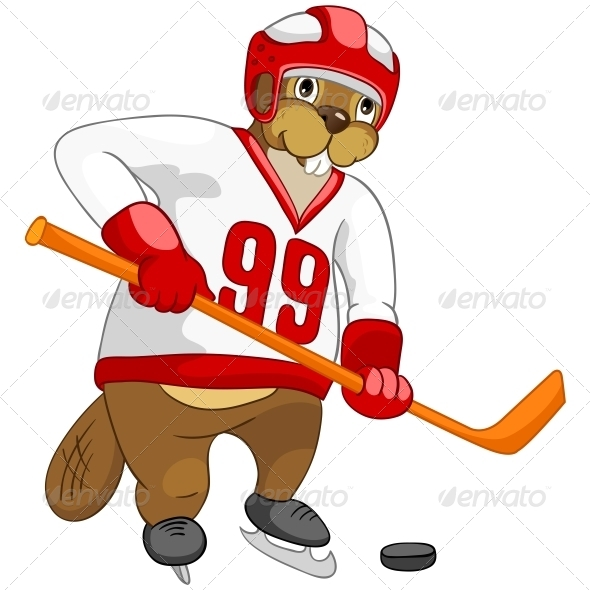 GraphicRiver Cartoon Character Beaver 4356876