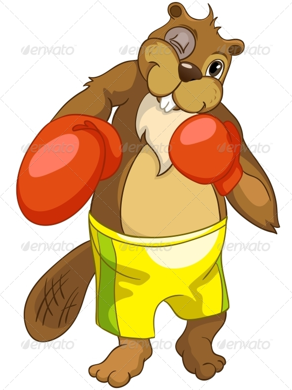 GraphicRiver Cartoon Character Beaver 4356880