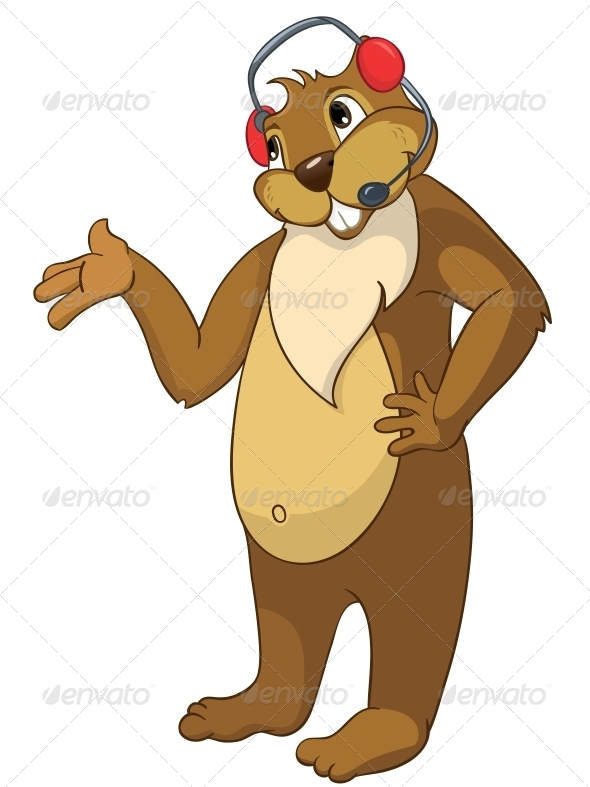 GraphicRiver Cartoon Character Beaver 4356928