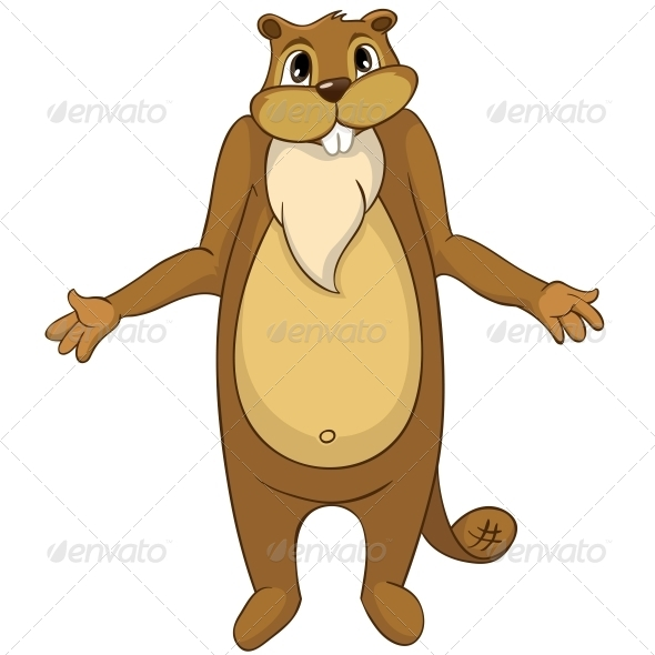 GraphicRiver Cartoon Character Beaver 4356938