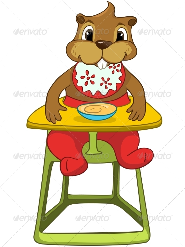 GraphicRiver Cartoon Character Beaver 4356944