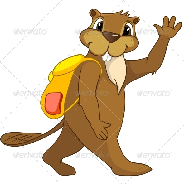 GraphicRiver Cartoon Character Beaver 4356945
