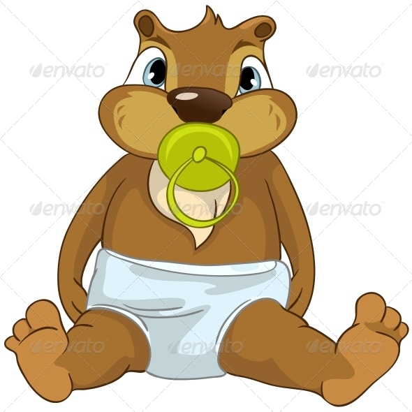 GraphicRiver Cartoon Character Beaver 4356952