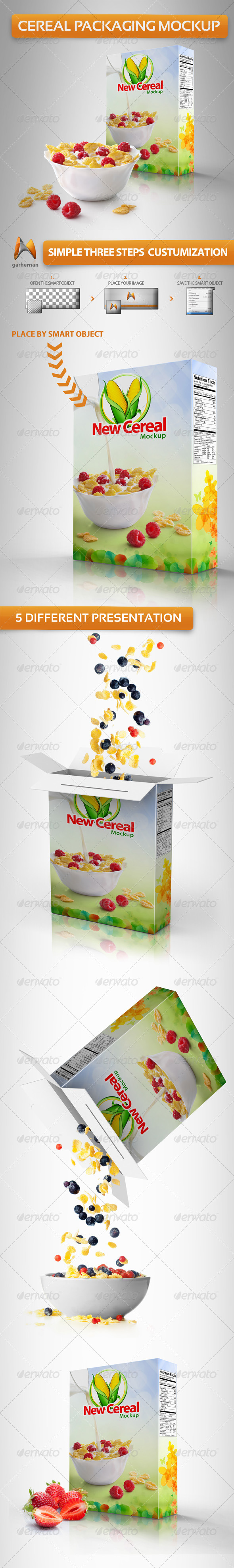 GraphicRiver Cereal Packaging Mockup 4356987