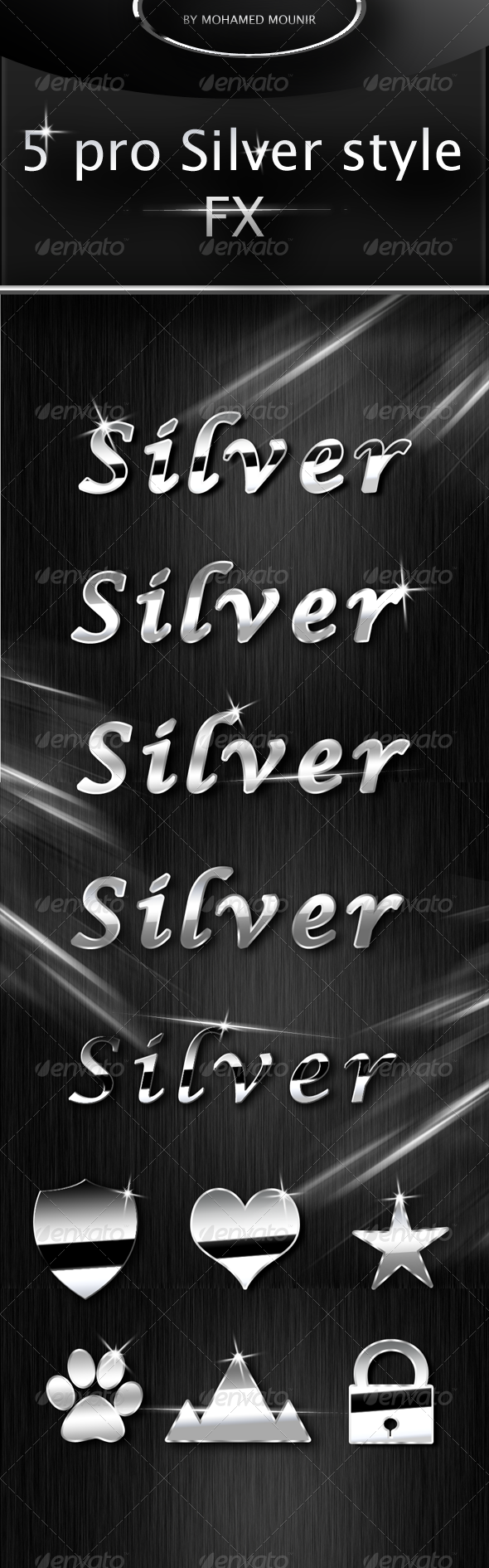GraphicRiver Silver Text Styles 4357080