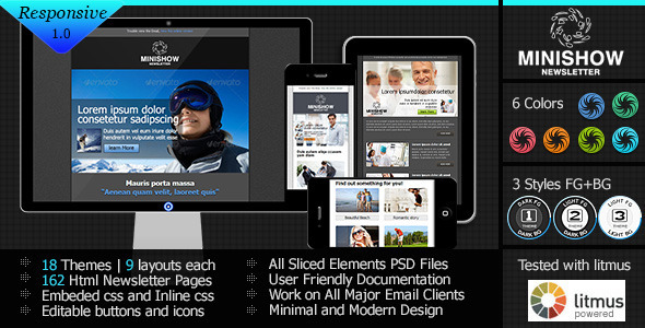 ThemeForest Minishow Responsive Email Template 4357308
