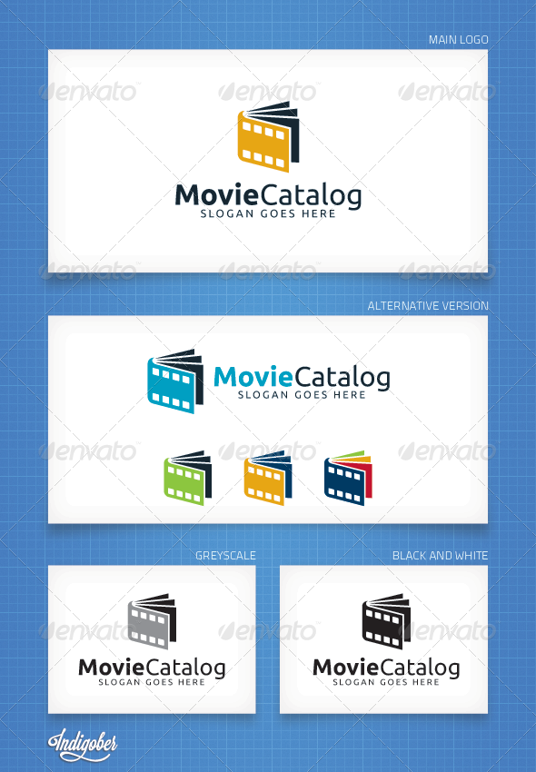GraphicRiver MovieCatalog Logo Template 4358008