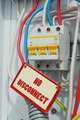 One electric switch and prohibition signs - PhotoDune Item for Sale