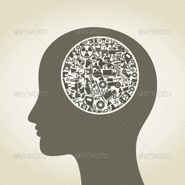 Head the industry2 - Stock Photo - Images
