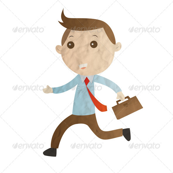 Businessman plasticine  - Stock Photo - Images