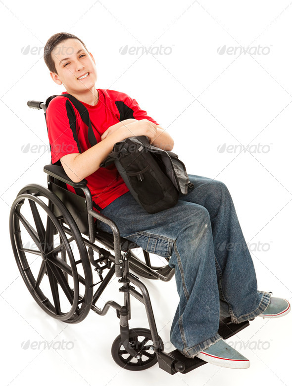 Stock Photo - PhotoDune Disabled Teen Boy Full Body 467745
