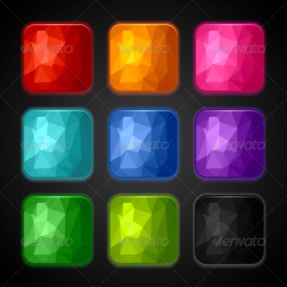 GraphicRiver Set of Geometric Backgrounds for the App Icons 4360637