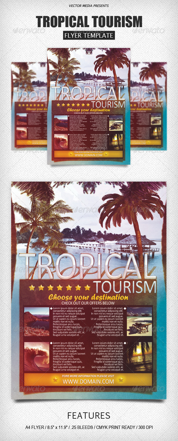 GraphicRiver Tropical Tourism Flyer 4244099