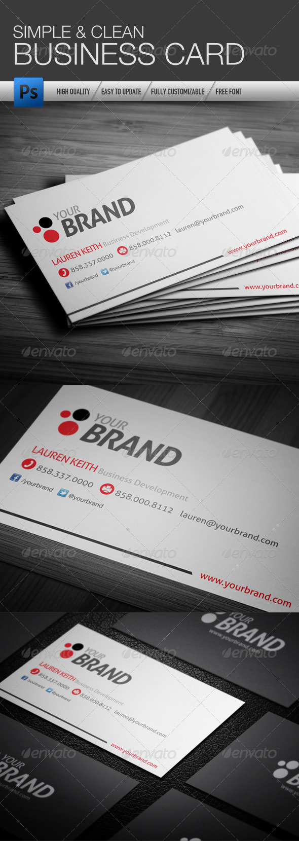GraphicRiver Simple and Clean Business Card 4361450