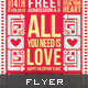 Valentine Flyer - All You Need Is Love - GraphicRiver Item for Sale