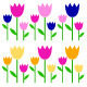 Colorful Spring Tulips set Isolated on White - GraphicRiver Item for Sale