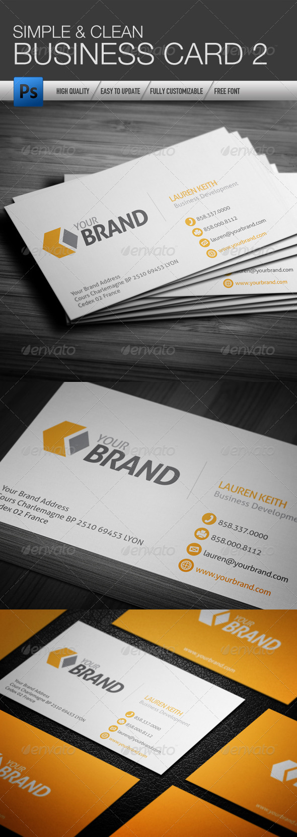 GraphicRiver Simple and Clean Business Card 2 4361703