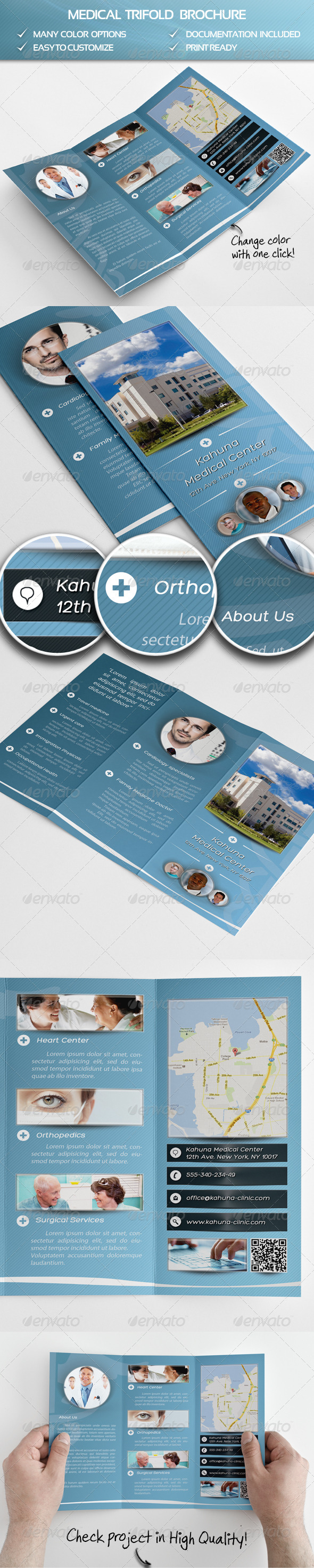 GraphicRiver Medical Trifold Brochure 4228077