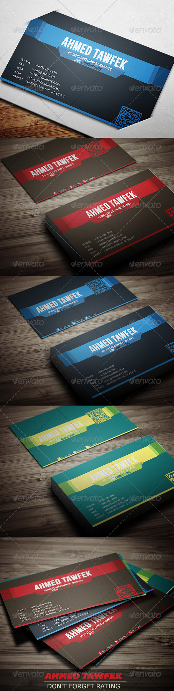 GraphicRiver 03 Corporate Business Cards 4201154