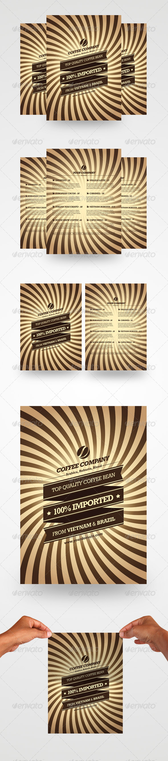 GraphicRiver Retro Coffee Flyers 4364098