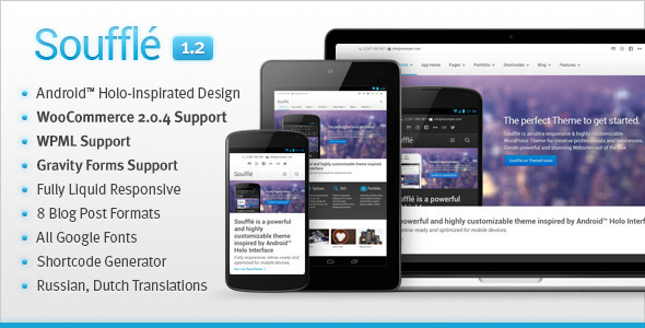 Souffle  Responsive Retina Multi-Purpose Theme - Corporate WordPress