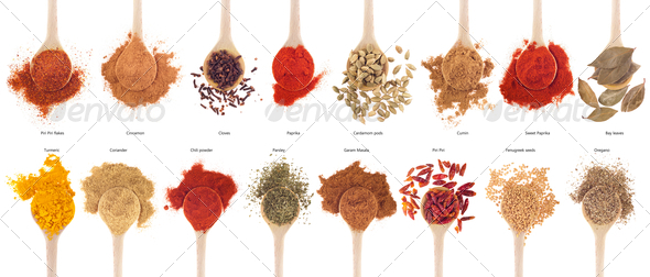 PhotoDune Spices collection on spoons 473792