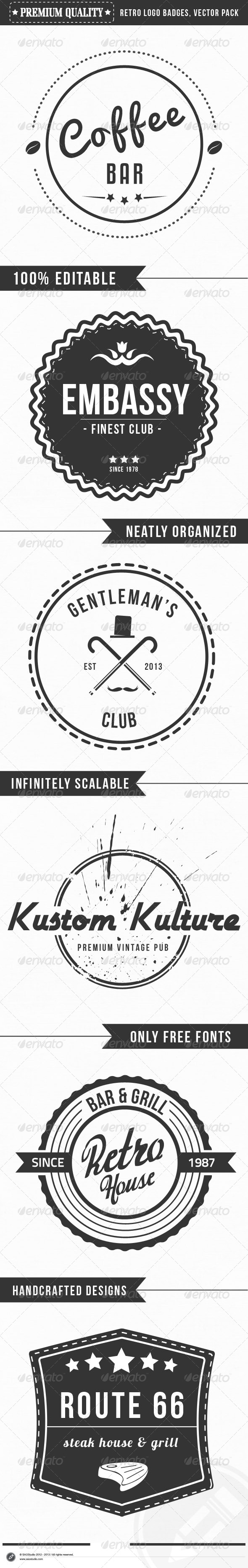 GraphicRiver Premium Quality Retro Logo Badges 4311708