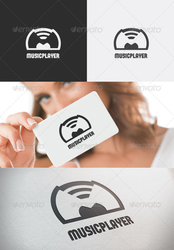 GraphicRiver Music player logo 4366113