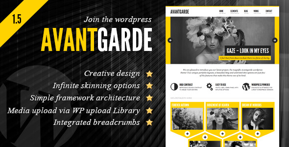 Avantgarde Creative Theme -