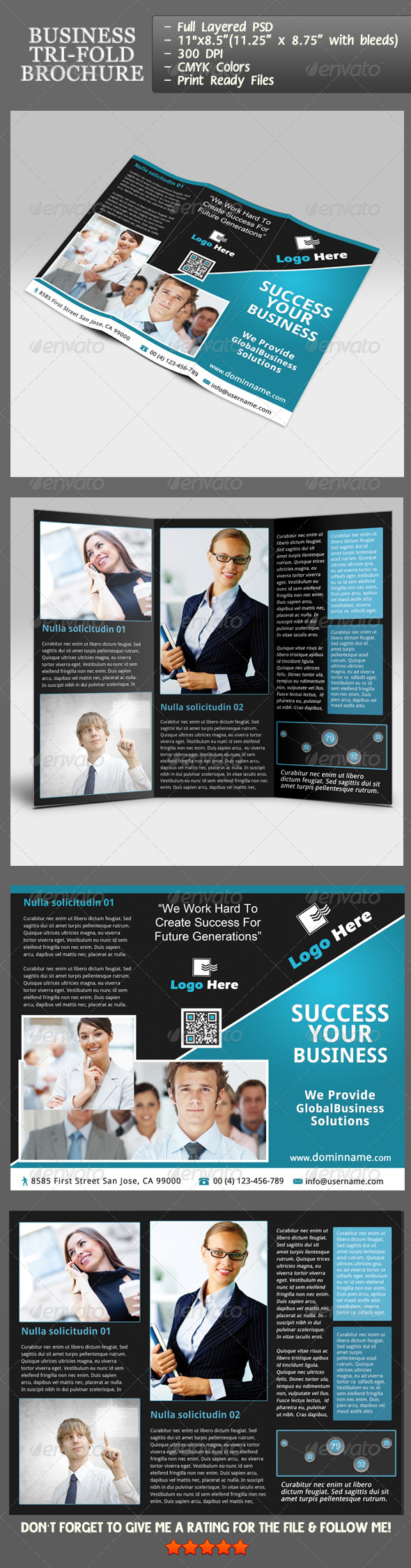 Business Tri-Fold Brochure - Corporate Brochures