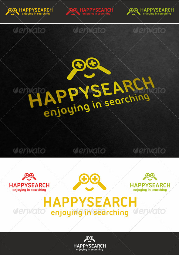Happy Search Face Logo - Humans Logo Templates
