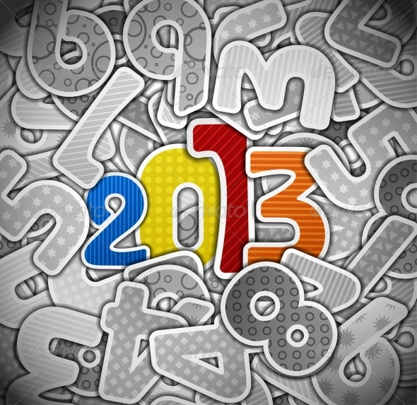 GraphicRiver New Year from a Paper 4367893