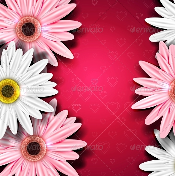 GraphicRiver Romantic Background with Gerberas 4367895